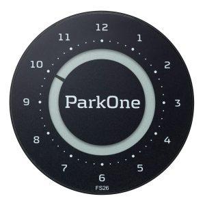 parkeringsskive solcelle gave