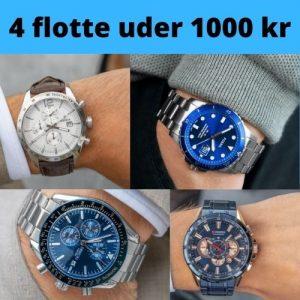 4 flotte ure til under 1000 kr gave
