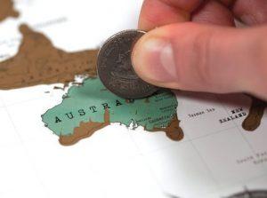 Et landkort - skrab de lande du besøger