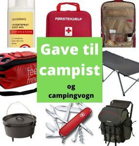 Gaver til campister gaveideer til telt og campingvogn