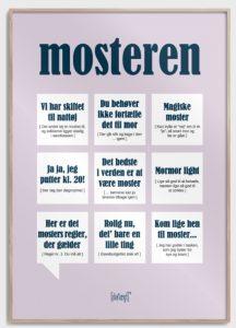 moster plakat gave til moster